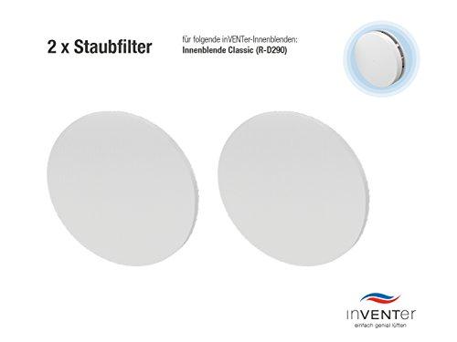 Preisvergleich Produktbild 2 x inVENTer-Staubfilter der Filterklasse G3 zum Einsetzen in Innenblende Classic (R-D290) | 1004-0033 | Kunststofffaser-Filter zur Verbesserung der Luft- und Lebensqualität