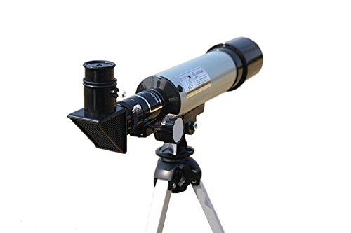 Insun Kinder Linsenteleskop Einstiegslevel Fernrohr Refraktorteleskop mit Tischstativ Himmelbeobachter Schüler Geschenke Monocular Teleskop Skywatcher 360×50 mm,Okular H20mm&H6mm