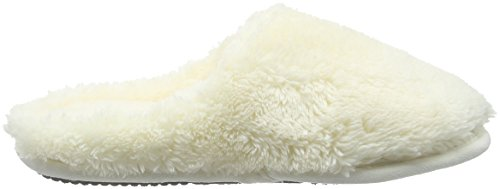 Dearfoams Damen Plush Clog with Memory Foam Hausschuhe Off White (Alabaster 00284)
