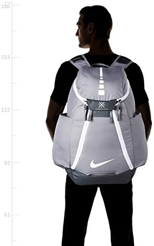 Best nike air max backpack in India 2020 Nike Hoops Elite Max Air Team 2.0 Basketball Backpack Charcoal/Dark Gray/White, One Size Image 5