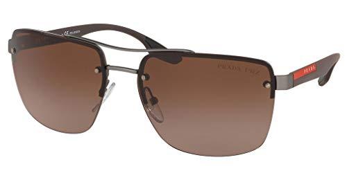 Ray-Ban Herren 0PS 60US Sonnenbrille, Mehrfarbig (Gunmetal Rubber), 62