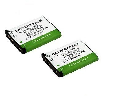 High Capacity - 2 x Rechargeable Battery for Nikon COOLPIX