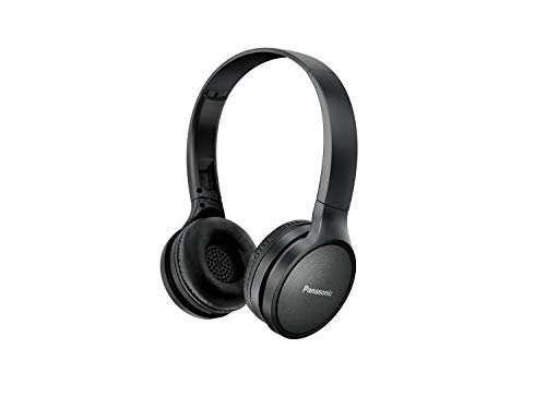 Panasonic Bluetooth Headphones RP-HF410BE-K in Black (On-Ear, Up to 24 Hours Battery Life, Quick Charge, Voice Control, 30 mm Converter) Best Price and Cheapest