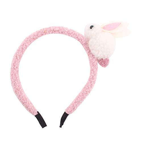Amosfun Fasce per Capelli Coniglietto Fascia per Capelli con Conigli Accessori per Capelli per la Festa di Pasqua (Rosa)