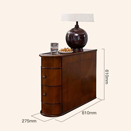 MU Household Side Cabinet Abriebfeste wasserdichte Sofa Beistelltisch Eichenholz Moderner Couchtisch Kreativer Nachttisch Balkon Quadratischer Tisch,A - Kirsche Wohnzimmer Beistelltisch