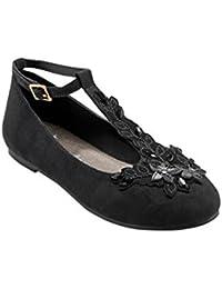 next Para Niñas Zapatos Con Tira En El Empeine Adornada De Flores (Niña Mayor)