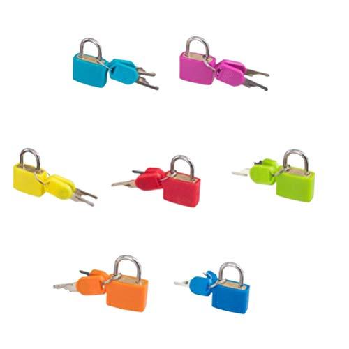 NUOBESTY Mini candado de seguridad Colorido Bloqueo de múltiples colores con teclas Aplica a casilleros...