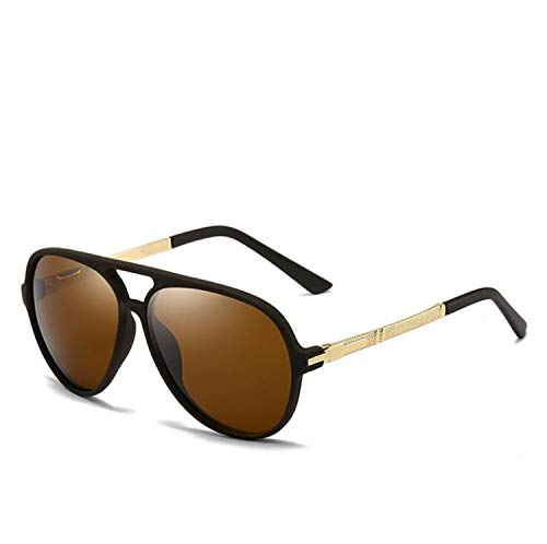 CASEY-L Polarisierte Sonnenbrille, Runde Herrenbrille TR Ultra Light Retro Driving Mirror Female 2019 New UV Protection Outdoor F