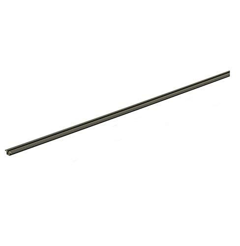 Gedotec Laufschiene für Schranktür Schiebetürbeschlag für Glas-Tür Führungsschiene für Holz-Tür - Slide Line 55 | Kunststoff braun | 2000 mm | 1 Stück - Führungsschiene für Möbel-Schiebetürbeschläge
