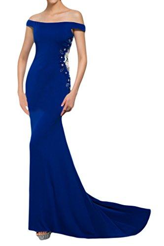 ivyd ressing robe élégante à partir de la épaules Mermaid Party Prom robe robe du soir Bleu - Bleu royal