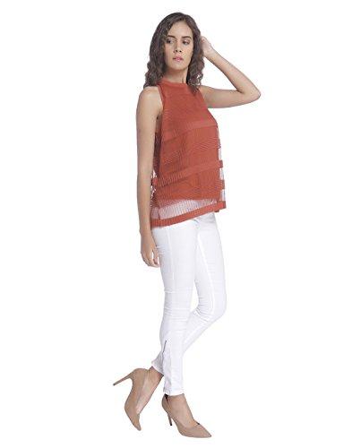 Vero Moda Vmyade Plisse Sl Top Jrs V, Débardeur Femme Rouge (Arabian Spice)