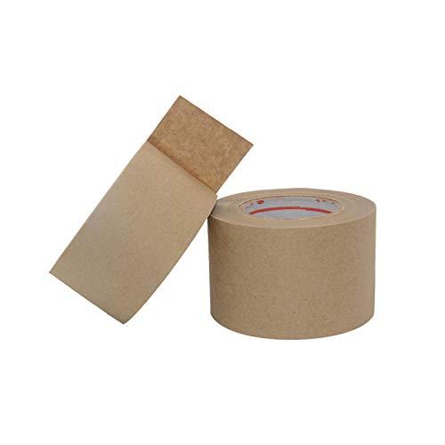 Vincrtnu Wet Buffy Lederband, hochviskoser Karton, Versiegelung, Versiegelung, Kunststoff, Wasser-Sol, kann Verpackungsband für Pakete und Kartons geschrieben werden,47 mm * 30 m (5 Rollen) -