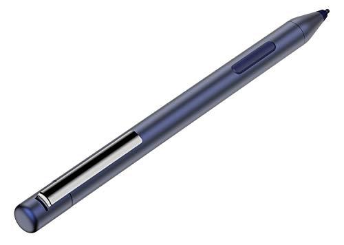 NEUE DAWN Stylet de Remplacement Stylet pour HP Pavilion x360 11-ad0xx 11m-ad0xx 14-ba0xx 14m-ba0xx 14-cd0xx 15-br0xx avec 1024 Niveaux de sensibilité à la Pression et Corps en Aluminium (Bleu)