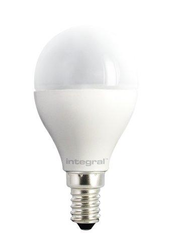 Integral LED-ilp45e14o6.7N27kbema Mini Globe E14LED/6,7W 470lm 2700K Warm Weiß nicht dimmbar Nickel gebürstet/Polycarbonat Kunststoff 3,5x 4,5cm