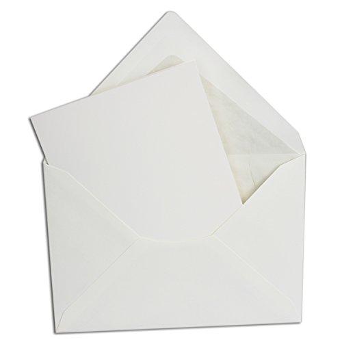 ltkarten + Umschläge A6 + C6 in Weiß // Größe: 14,8 x 20,9 cm (gefaltet 14,8 x 10,4 cm) // Umschläge gefüttert! ()