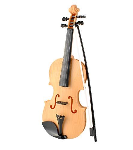 ISO TRADE Kinder Violine Spielzeug + Bogen Musikeffekte Detailgetreuer Nachbau 6288