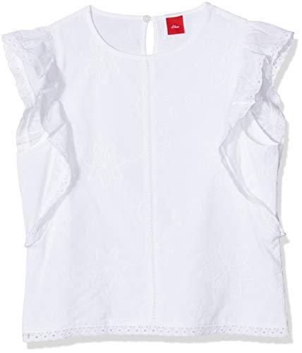 s.Oliver Mädchen 66.903.12.2393 Bluse, Weiß (White 0100), 164 (Herstellergröße: L/REG)