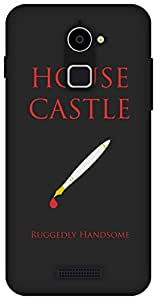 The Racoon Grip Castle Sigil Black hard plastic printed back case / cover for Coolpad Note 3 Lite