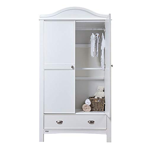 East Coast Nursery Toulouse Wardrobe, White Best Price and Cheapest