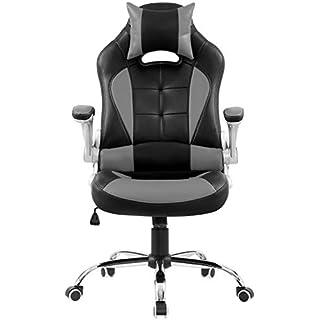 Chefsessel, Schreibtischstuhl, Bürostuhl, schwarz-grau, AY 5411