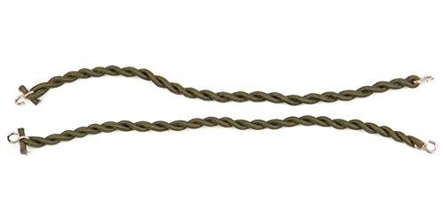 1 Paar BW Elastische Gummibänder für die Hosenbeine Hosengummi Gummibänder zum Umschlagen der Hose (Oliv) (1-reise-hose)