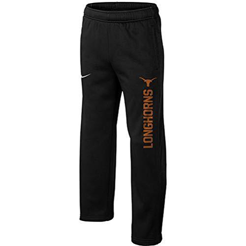Nike Jungen Texas Longhorns Therma-Fit Wordmark KO Hose, Größe M, Schwarz