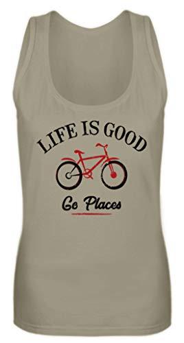 generisch Life is Good - Go Places | Fahrrad Bike - Frauen Tanktop -S-Khaki -