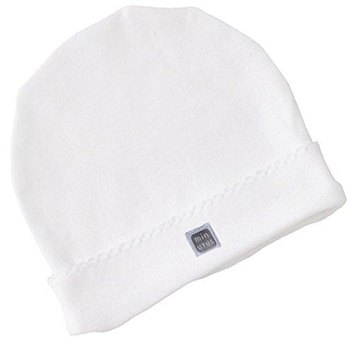 Gorro para Bebé Recién Nacido 100% Algodón Color Blanco - Colección Plain - Minutus