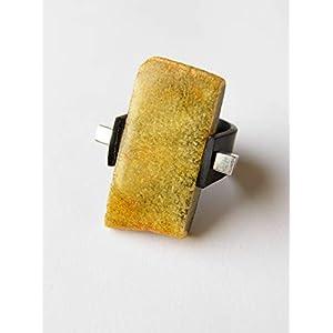 Bernstein Ring GRÜNLICH Silber 925 NEU 19660