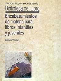 Encabezamientos de materia para libros infantiles y juveniles (Biblioteca del Libro)