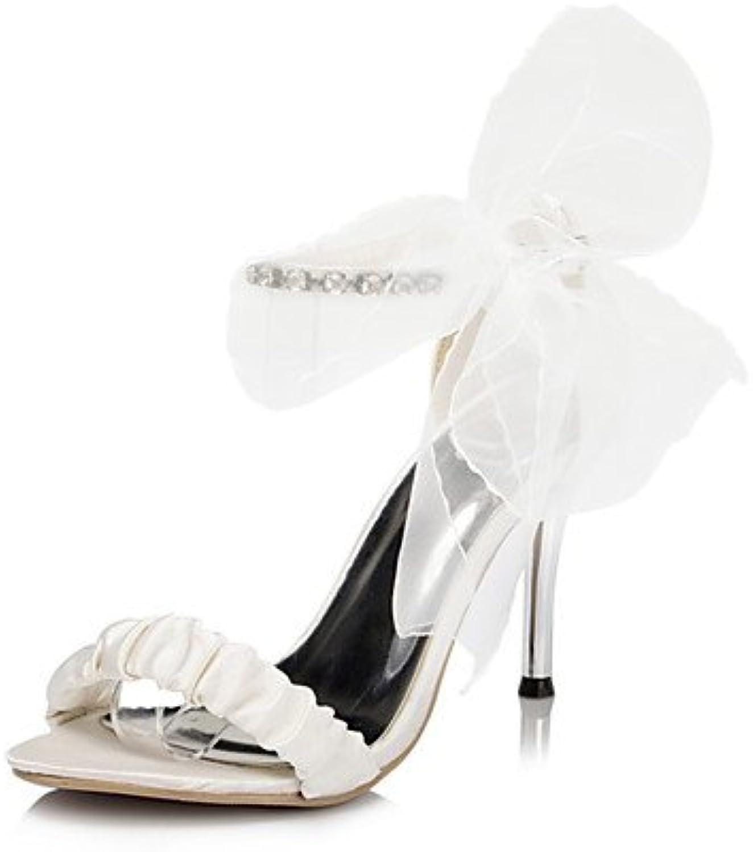 ZQ Zapatos de boda-Sandalias-Punta Abierta-Boda / Fiesta y Noche / Vestido-Marfil / Blanco-Mujer , 3in-3 3/4in-ivory