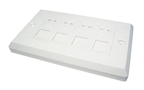 NEWLink CAT 6 Quad Port Shuttered Faceplate