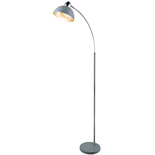 Steh Leuchte Wohn Zimmer Blattsilber Design Bogen Stand Lampe Strahler beweglich