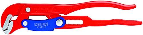KNIPEX 83 60 010 Rohrzange S-Maul mit Schnellverstellung rot pulverbeschichtet 330 mm