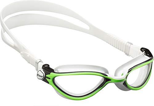 Cressi de203567 occhialini da nuoto, unisex - adulto, nero/lime, taglia unica