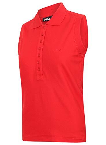 Fila Polo Anguille Femmes Chinois Rouge sans Manche Golf, Tennis Haut Sport - Rouge, Large