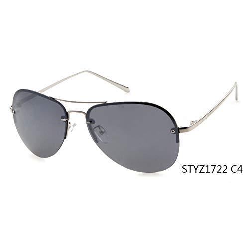 Taiyangcheng Moda Mujer gafas de sol polarizadas Hombres Marco de Metal Gafas de sol Gafas,C4
