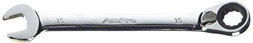 Ampro T41615 Clé Mixte à Cliquet Réversible, 15 mm