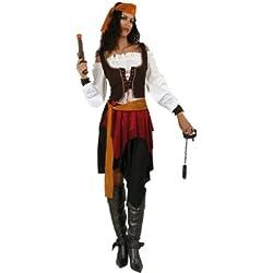 Atosa - 70182 - Disfraz Pirata- talla M-L - Color Naranja para Mujer Adulto