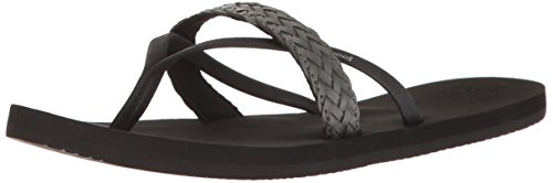 Reef Cushion Wild, Tongs Femmes Noir (Black)