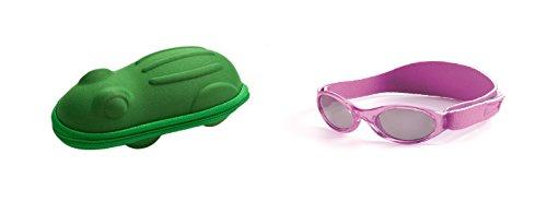 Geschenk Pack Baby Violett BabyBanz Sonnenbrille und Grün Frosch Sonnenbrille Fall 0-2 Jahre