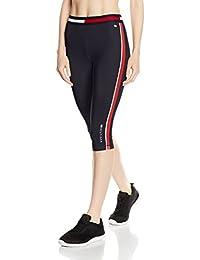 Tommy Hilfiger Th Piped Capri Legging, Pantalon de Sport Femme