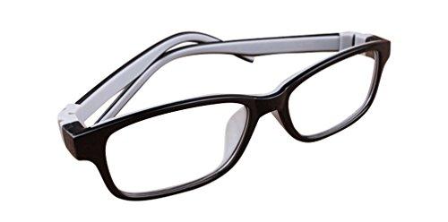 De Ding Kinder Silikon Optische Kurzsichtige Brillen Rahmen Schwarz Grau