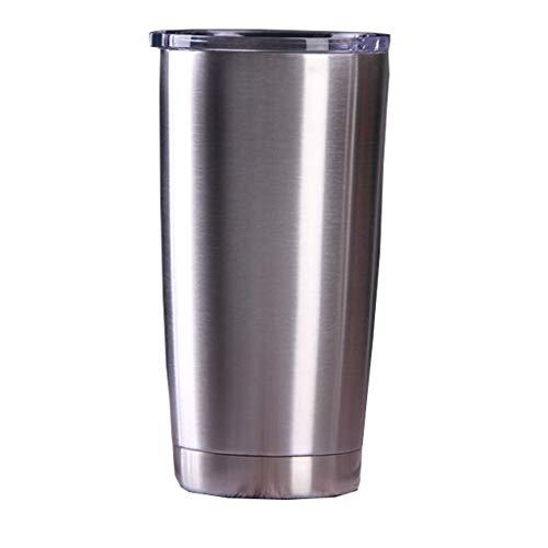304 Edelstahlbecher Vakuumisolierter Becher Mit Spritzwassergeschütztem Deckel Kaffee-Reisebecher Doppelwandiger Kaffee-Isolierkolben Mit Großer Kapazität, Tragbar, Langlebig, Isoliert,20oz
