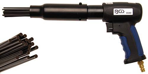 BGS 8540 | Druckluft-Nadelentroster | 3500 Hübe/min. | 19 Nadeln | ergonomischer Griff | 330 mm Länge