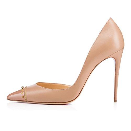 Sapatos Faschion Clubes Borboleta Casamento 10cm Mulheres Sapatos Primavera Beige noite Nó Edefs HR4qnzw