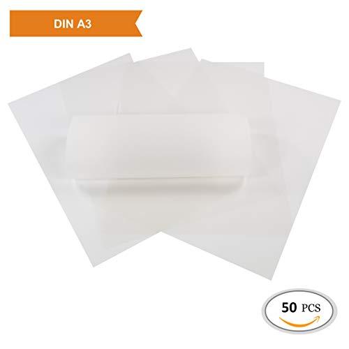 ZADAWERK® Transparentpapier - 112 g/m² - A3 - weiß - 50 Stück - Laterne basteln -