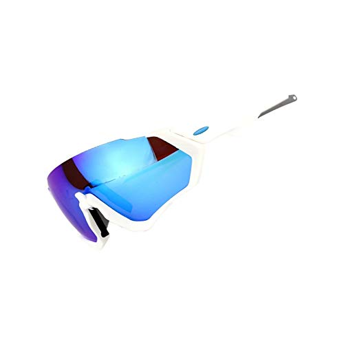 Lafeil Fahrradbrille Beschlagfrei Damen Herren Reiten Brille Mountainbike Polarisierten Sonnenbrillen Fahrrad Brille Männer Und Frauen Weiß Blau