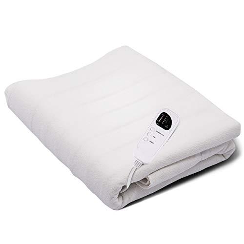 COSTWAY Wärmeunterbett mit Überhitzungsschutz, Heizdecke fürs Bett, Wärmedecke elektrisch, Wärmebett mit Timer, 5 Temperaturstufen, 185x76cm