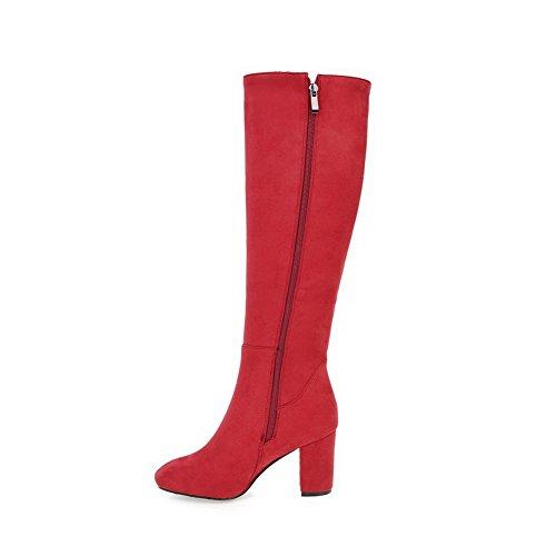 An Andku01911 - Sandales Compensées Rouges Pour Femmes
